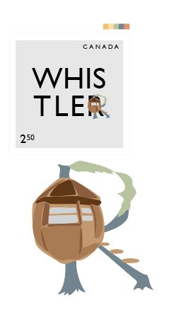 Whistler BC stamp