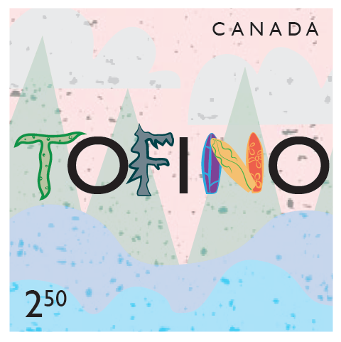 tofino BC stamp illustration