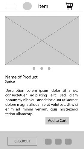 wireframe item description