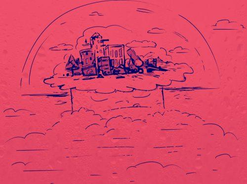 cartoon city of broken divs