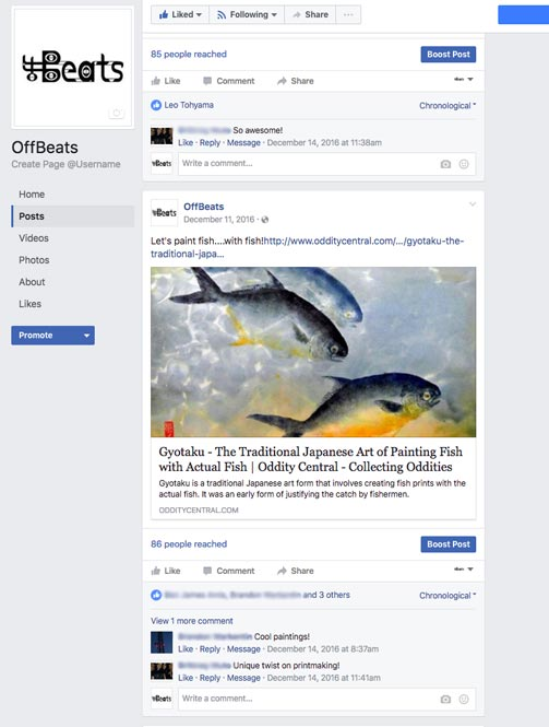 Facebook fish painting image