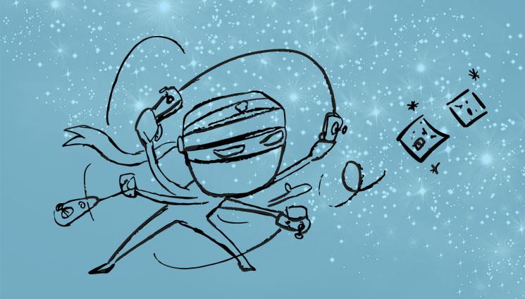 In theCloud cartoon ninja